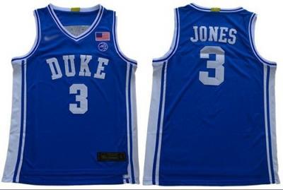 Men's Duke Blue Devils #3 Tre Jones Royal Blue Basketball 2019 Stitched College Jersey