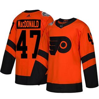 Men's Flyers #47 Andrew MacDonald Orange  2019 Stadium Series Stitched Hockey Jersey