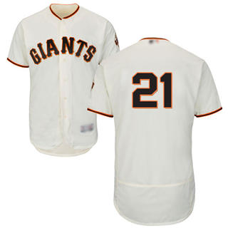 Men's Giants #21 Stephen Vogt Cream Flexbase  Collection Stitched Baseball Jersey