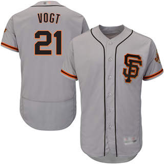 Men's Giants #21 Stephen Vogt Grey Flexbase  Collection Road 2 Stitched Baseball Jersey