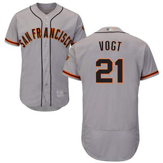 Men's Giants #21 Stephen Vogt Grey Flexbase  Collection Road Stitched Baseball Jersey
