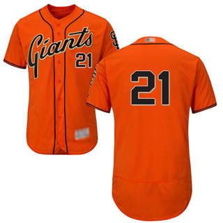 Men's Giants #21 Stephen Vogt Orange Flexbase  Collection Stitched Baseball Jersey
