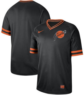 Men's Giants Blank Black  Cooperstown Collection Stitched Baseball Jersey