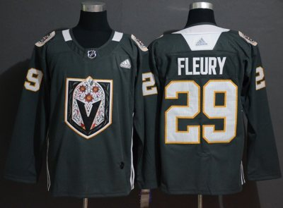 Men's Golden Knights #29 Marc-Andre Fleury Black Authentic Latin Nights Stitched Hockey Jersey