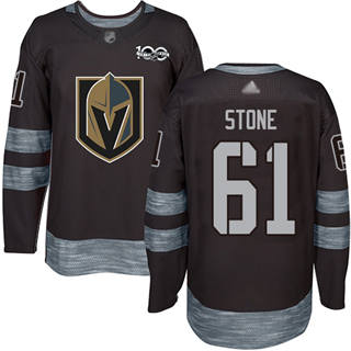 Men's Golden Knights #61 Mark Stone Black 1917-2017 100th Anniversary Stitched Hockey Jersey
