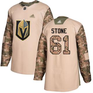 Men's Golden Knights #61 Mark Stone Camo  2017 Veterans Day Stitched Hockey Jersey