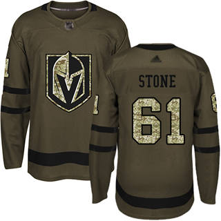 Men's Golden Knights #61 Mark Stone Green Salute to Service Stitched Hockey Jersey