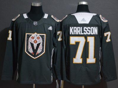 Men's Golden Knights #71 William Karlsson Black Authentic Latin Nights Stitched Hockey Jersey