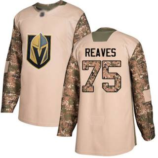 Men's Golden Knights #75 Ryan Reaves Camo  2017 Veterans Day Stitched Hockey Jersey