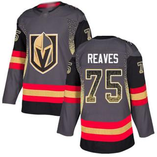 Men's Golden Knights #75 Ryan Reaves Grey Home  Drift Fashion Stitched Hockey Jersey
