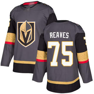 Men's Golden Knights #75 Ryan Reaves Grey Home  Stitched Hockey Jersey