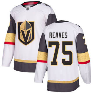 Men's Golden Knights #75 Ryan Reaves White Road  Stitched Hockey Jersey