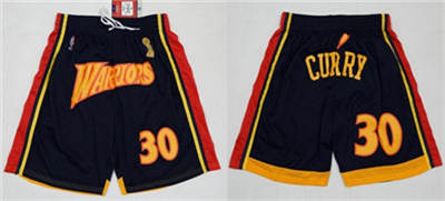 Men's Golden State Warriors  Black Champion Basketball Shorts