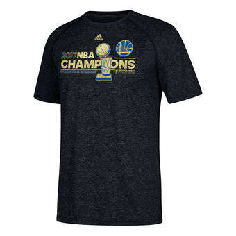 Men's Golden State Warriors  Heathered Black 2017 Basketball Finals Champions Locker Room climalite T-Shirt