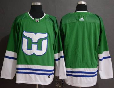 Men's Hartford Whalers Blank Green  Stitched Hockey Jersey