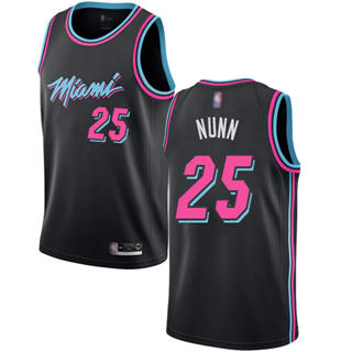 Men's Heat #25 Kendrick Nunn Black Basketball Swingman City Edition 2018-19 Jersey
