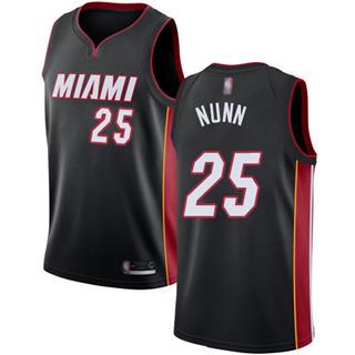 Men's Heat #25 Kendrick Nunn Black Basketball Swingman Icon Edition Jersey