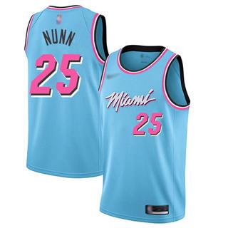 Men's Heat #25 Kendrick Nunn Blue Basketball Swingman City Edition 2019-2020 Jersey
