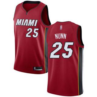 Men's Heat #25 Kendrick Nunn Red Basketball Swingman Statement Edition Jersey