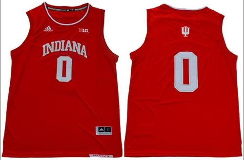 Men's Hoosiers #0 Romeo Langford Red Big 10 Patch Stitched College Basketball Jersey