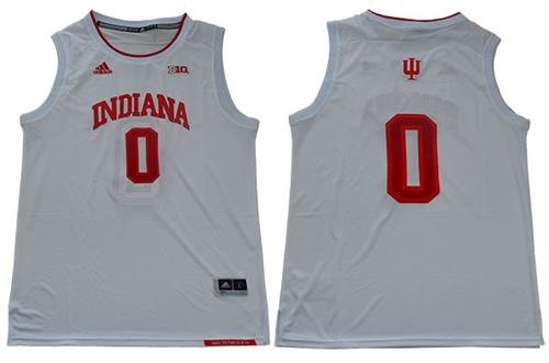 Men's Hoosiers #0 Romeo Langford White Big 10 Patch Stitched College Basketball Jersey