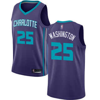 Men's Hornets #25 PJ Washington Purple Basketball Jordan Swingman Statement Edition Jersey