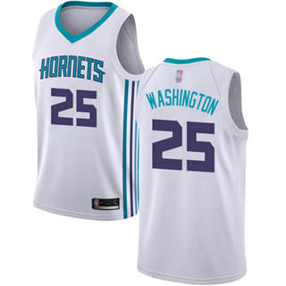 Men's Hornets #25 PJ Washington White Basketball Jordan Swingman Association Edition Jersey