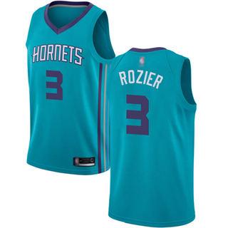 Men's Hornets #3 Terry Rozier Teal Basketball Jordan Swingman Icon Edition Jersey