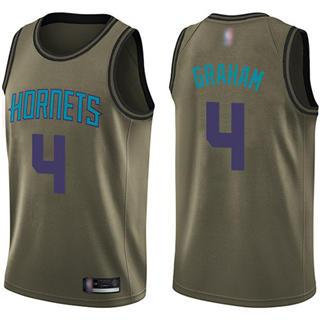 Men's Hornets #4 Devonte Graham Green Basketball Swingman Salute to Service Jersey