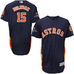 Men's Houston Astros #15 Carlos Beltran Navy Blue Flexbase  Collection 2017 World Series Champions Stitched Baseball Jersey