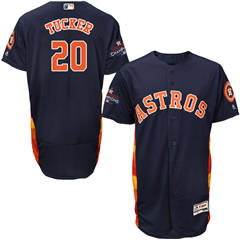 Men's Houston Astros #20 Preston Tucker Navy Blue Flexbase  Collection 2017 World Series Champions Stitched Baseball Jersey