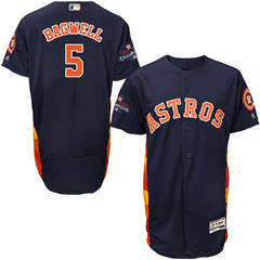 Men's Houston Astros #5 Jeff Bagwell Navy Blue Flexbase  Collection 2017 World Series Champions Stitched Baseball Jersey