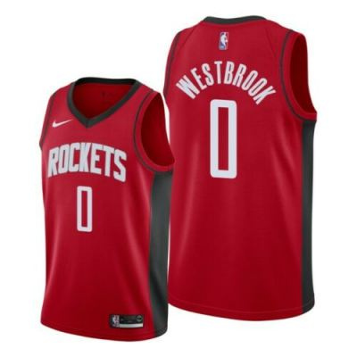 Men's Houston Houston Rockets #0 Russell Westbrook 2019-20 Red Icon Edition Jersey