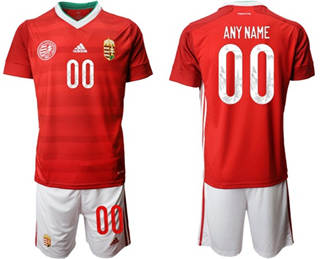 Men's Hungary Personalized Home Soccer Country Jersey