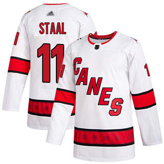 Men's Hurricanes #11 Jordan Staal White Road Authentic Stitched Hockey Jersey