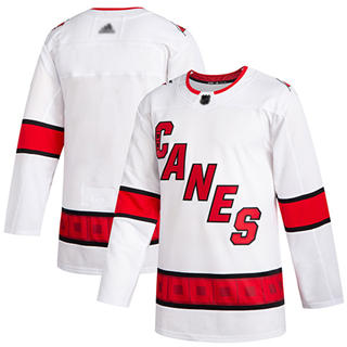 Men's Hurricanes Blank White Road Authentic Stitched Hockey Jersey