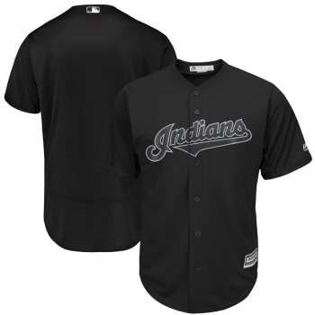 Men's Indians Blank Black 2019 Players' Weekend  Player Jersey
