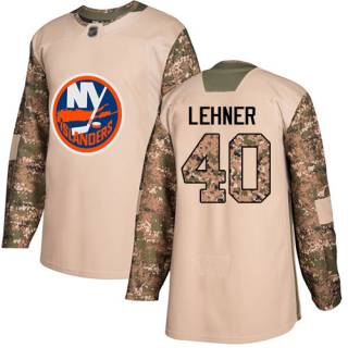 Men's Islanders #40 Robin Lehner Camo  2017 Veterans Day Stitched Hockey Jersey