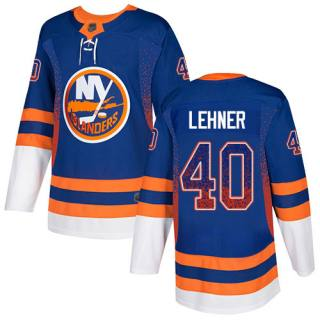 Men's Islanders #40 Robin Lehner Royal Blue Home  Drift Fashion Stitched Hockey Jersey