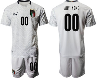 Men's Italy Personalized Away Soccer Country Jersey