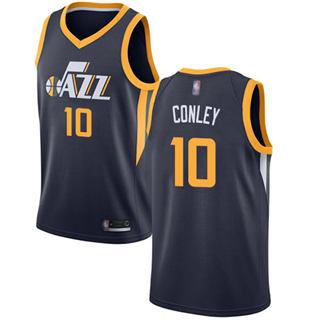 Men's Jazz #10 Mike Conley Navy Basketball Swingman Icon Edition Jersey