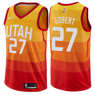 Men's Jazz #27 Rudy Gobert Orange Basketball Swingman City Edition 2019-2020 Jersey