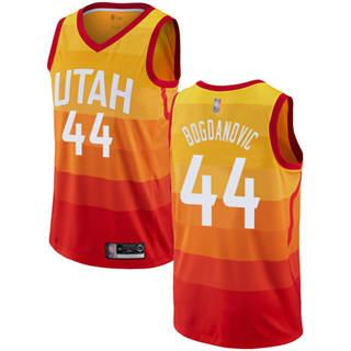 Men's Jazz #44 Bojan Bogdanovic Orange Basketball Swingman City Edition 2019-2020 Jersey