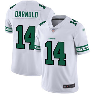 Men's Jets #14 Sam Darnold White Stitched Football Limited Team Logo Fashion Jersey