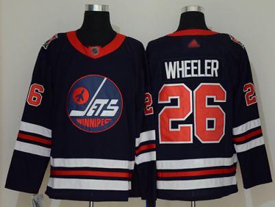 Men's Jets #26 Blake Wheeler Navy Blue Authentic 2019 Heritage Classic Stitched Hockey Jersey