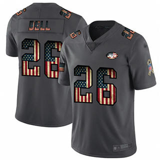 Men's Jets #26 Le'Veon Bell Carbon Black Stitched Football Limited Retro Flag Jersey
