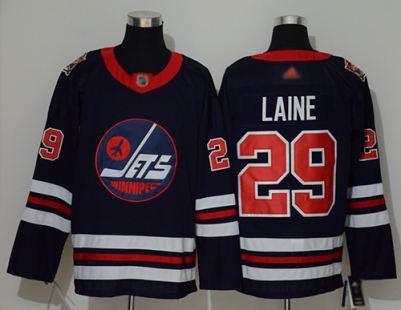 Men's Jets #29 Patrik Laine Navy Blue Authentic 2019 Heritage Classic Stitched Hockey Jersey