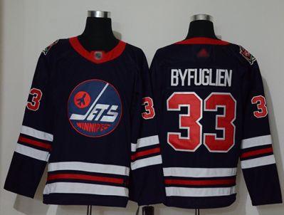 Men's Jets #33 Dustin Byfuglien Navy Blue Authentic 2019 Heritage Classic Stitched Hockey Jersey