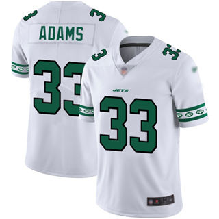 Men's Jets #33 Jamal Adams White Stitched Football Limited Team Logo Fashion Jersey