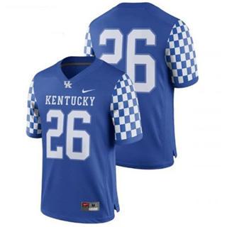 Men's Kentucky Wildcats #26 Benny Snell Jr. Blue 2019 College Football Jersey